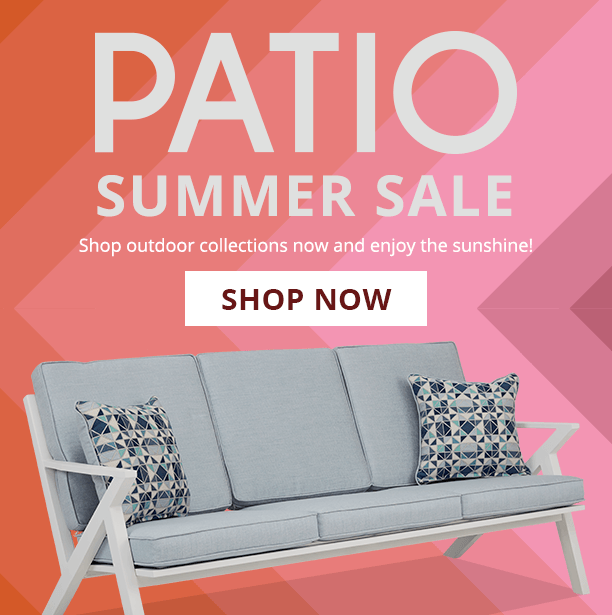 patio summer sale. shop outdoor collections now and enjoy the sunshine. shop now