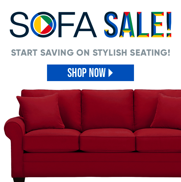 sofa sale. start saving on stylish seating. shop now