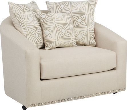 Sofia Vergara Claremont Beige Swivel Chair