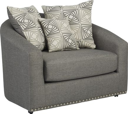 Sofia Vergara Claremont Gray Swivel Chair