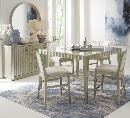 Sofia Vergara Delanco Pewter 5 Pc Counter Height Dining Room