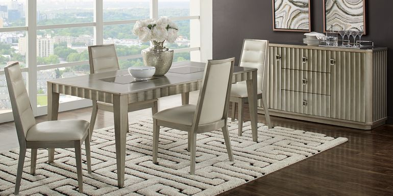Sofia Vergara Delanco Pewter 5 Pc Dining Room