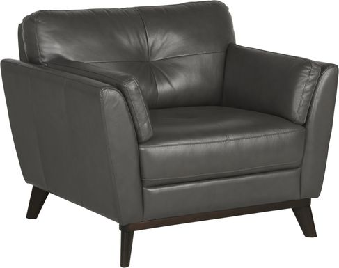 Sofia Vergara Gabriele Gray Leather Chair