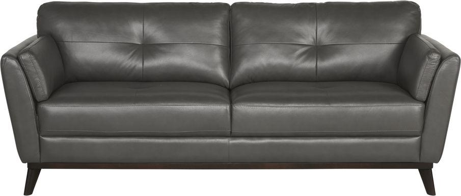 Sofia Vergara Gabriele Gray Leather Sofa