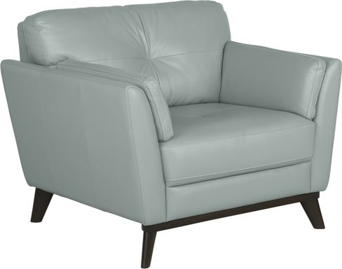 Sofia Vergara Gabriele Spa Blue Leather Chair