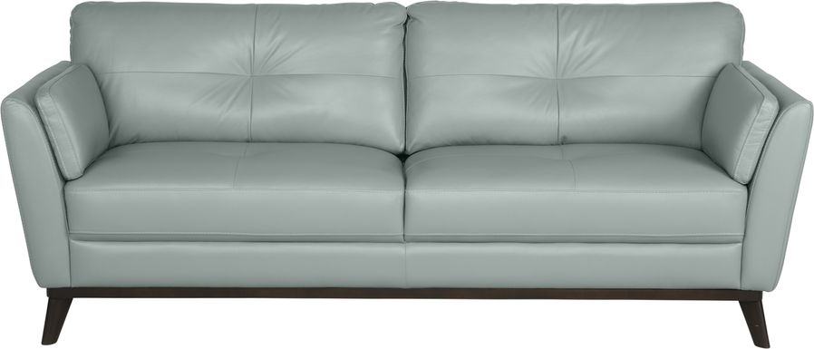 Sofia Vergara Gabriele Spa Blue Leather Sofa