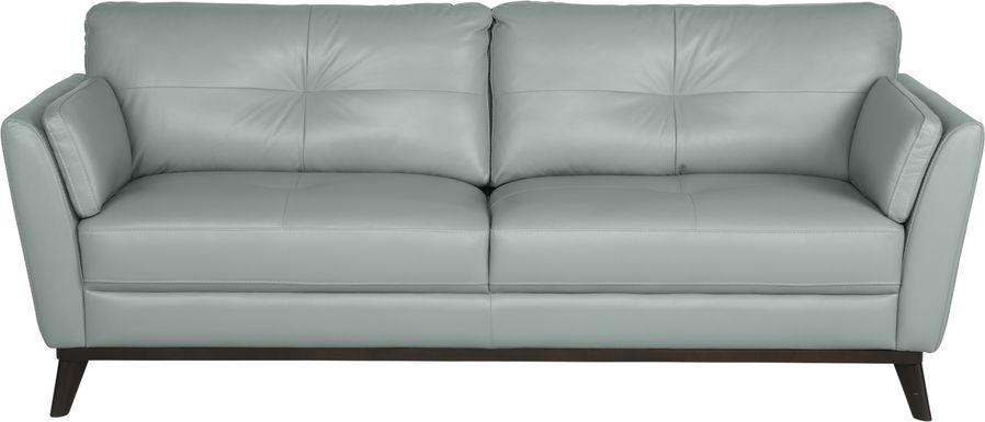 Sofia Vergara Gabriele Spa Blue Leather Sofa