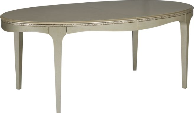 Sofia Vergara La Reina Silver Oval Dining Table