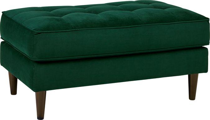 Sofia Vergara Pacific Palisades Emerald Plush Ottoman
