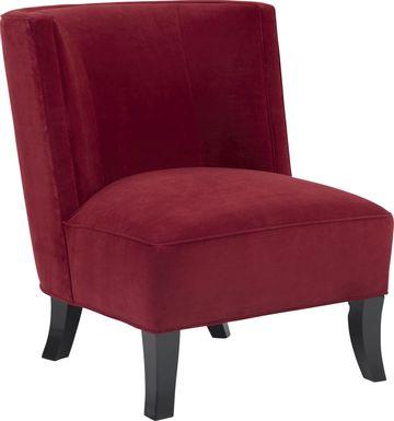 Sofia Vergara Pacific Palisades Scarlet Plush Accent Chair