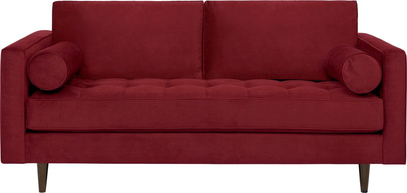 Sofia Vergara Pacific Palisades Scarlet Plush Apartment Sofa