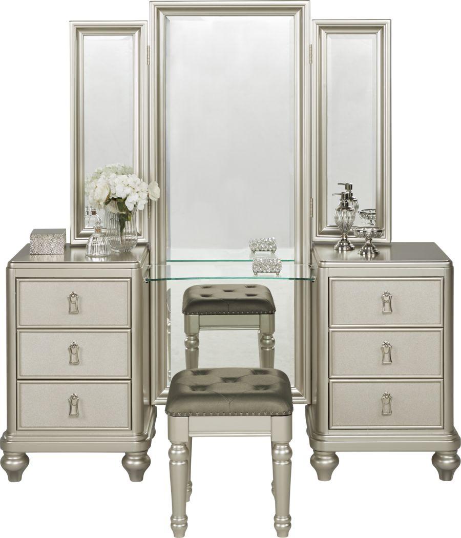 Sofia Vergara Paris Silver 2 Pc Vanity Set