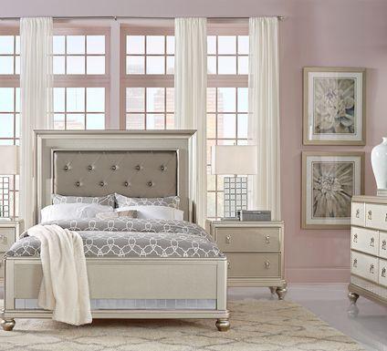 Sofia Vergara Paris Silver 5 Pc King Bedroom