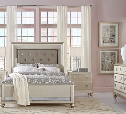 Sofia Vergara Paris Silver 7 Pc King Bedroom