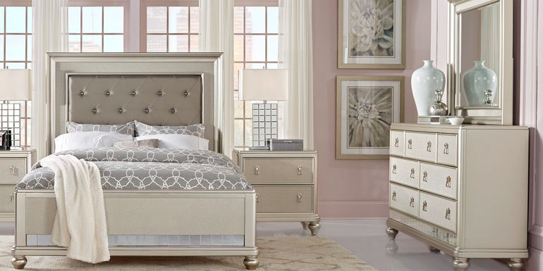 Sofia Vergara Paris Silver 7 Pc Queen Bedroom