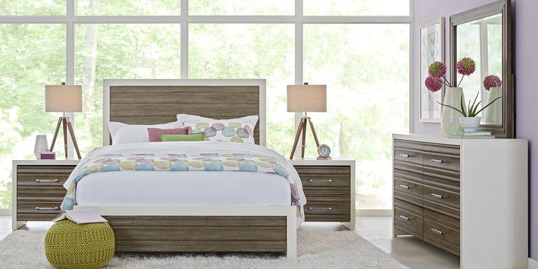 Sofia Vergara Santa Fiora White 5 Pc King Panel Bedroom