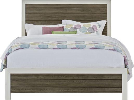 Sofia Vergara Santa Fiora White 3 Pc King Panel Bed