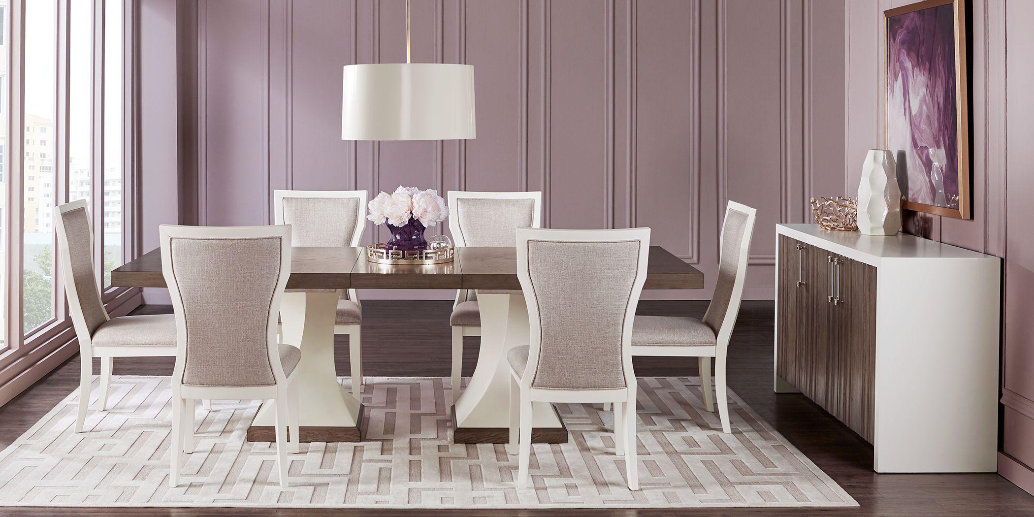 Sofia Vergara Santa Fiora White 5 Pc Rectangle Dining Room