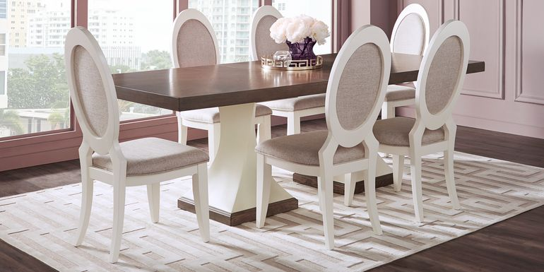 Sofia Vergara Santa Fiora White 5 Pc Rectangle Dining Room
