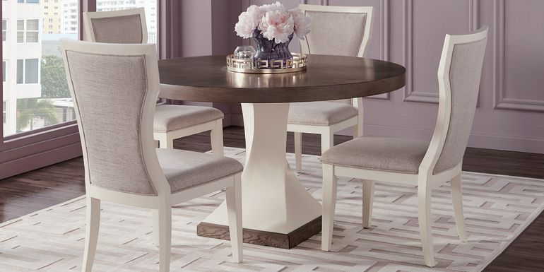 Sofia Vergara Santa Fiora White 5 Pc Round Dining Room