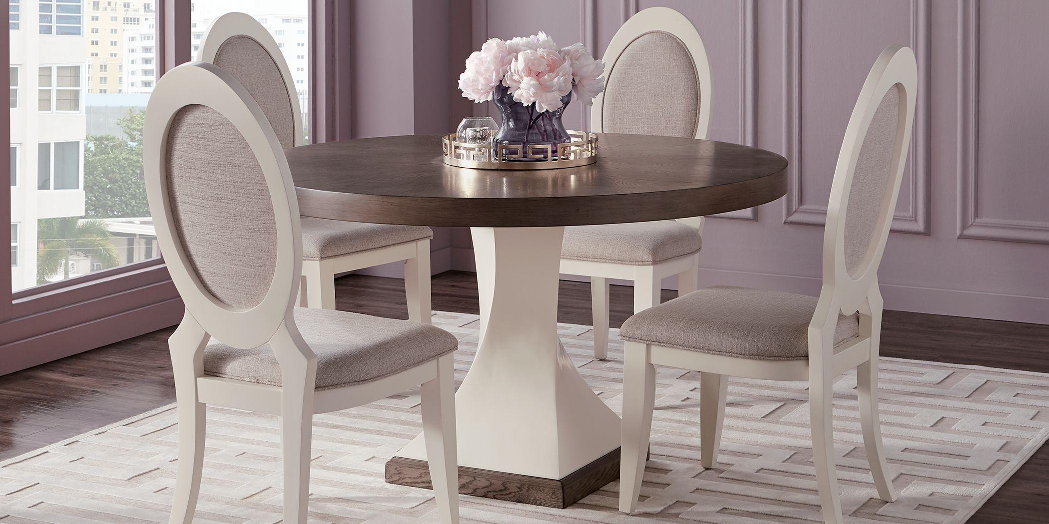 Sofia Vergara Santa Fiora White 5 Pc Round Dining Room