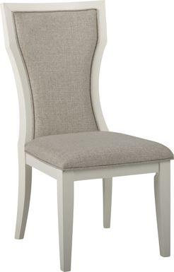 Sofia Vergara Santa Fiora White Rectangle Back Side Chair