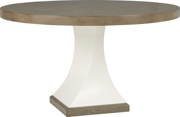 Sofia Vergara Santa Fiora White Round Dining Table