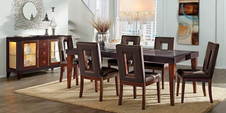 Sofia Vergara Savona Chocolate 5 Pc Rectangle Dining Room with Open Back Chairs