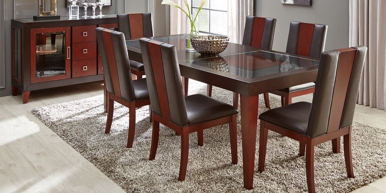 Sofia Vergara Savona Chocolate 5 Pc Rectangle Dining Room with Wood Back Chairs