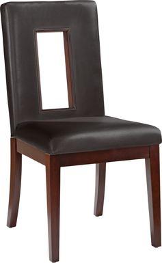 Sofia Vergara Savona Chocolate Upholstered Side Chair
