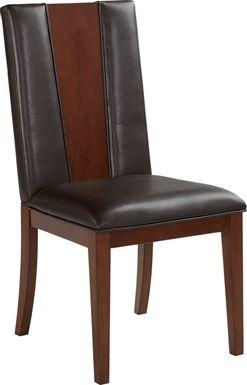 Sofia Vergara Savona Chocolate Wood Back Side Chair