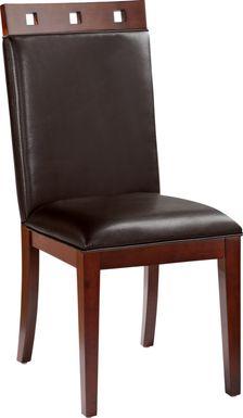 Sofia Vergara Savona Chocolate Wood Top Side Chair