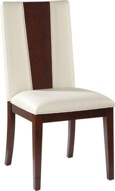 Sofia Vergara Savona Ivory Wood Back Side Chair