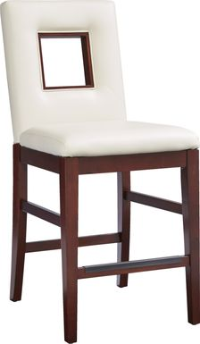 Sofia Vergara Savona Ivory Upholstered Counter Height Stool