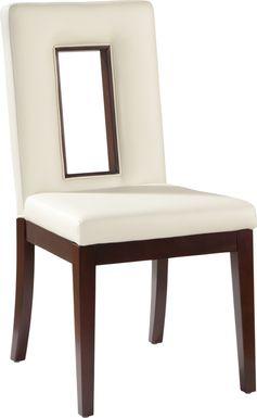 Sofia Vergara Savona Ivory Upholstered Side Chair