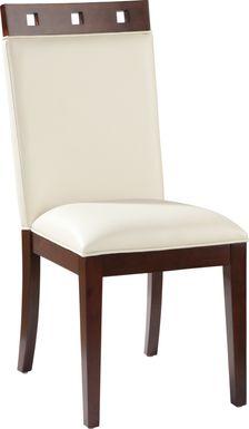 Sofia Vergara Savona Ivory Wood Top Side Chair