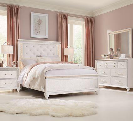 Sofia Vergara Vegas White 5 Pc King Panel Bedroom