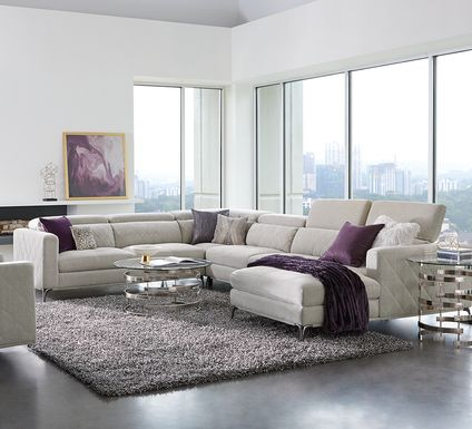 Sofia Vergara Via Sorrento Dove 4 Pc Sectional