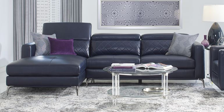 Sofia Vergara Via Sorrento Navy 2 Pc Sectional