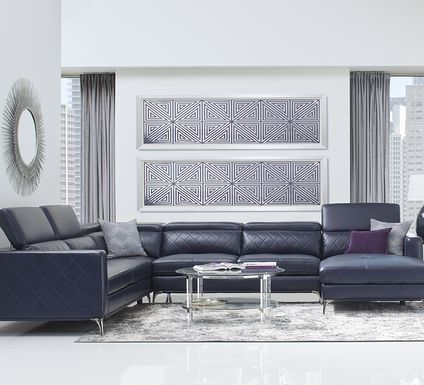 Sofia Vergara Via Sorrento Navy 4 Pc Sectional