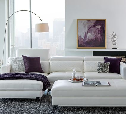 Sofia Vergara Via Sorrento White 2 Pc Sectional