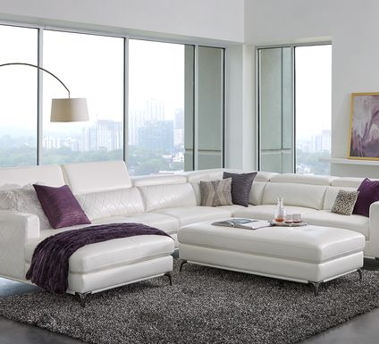 Sofia Vergara Via Sorrento White 4 Pc Sectional