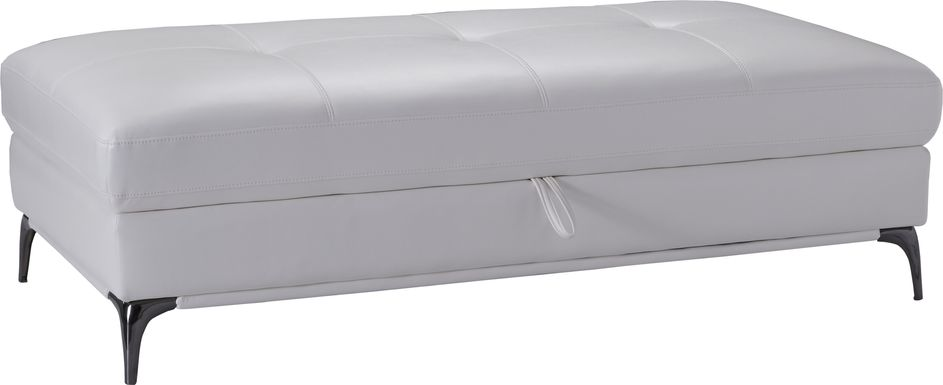 Sofia Vergara Via Sorrento White Storage Ottoman