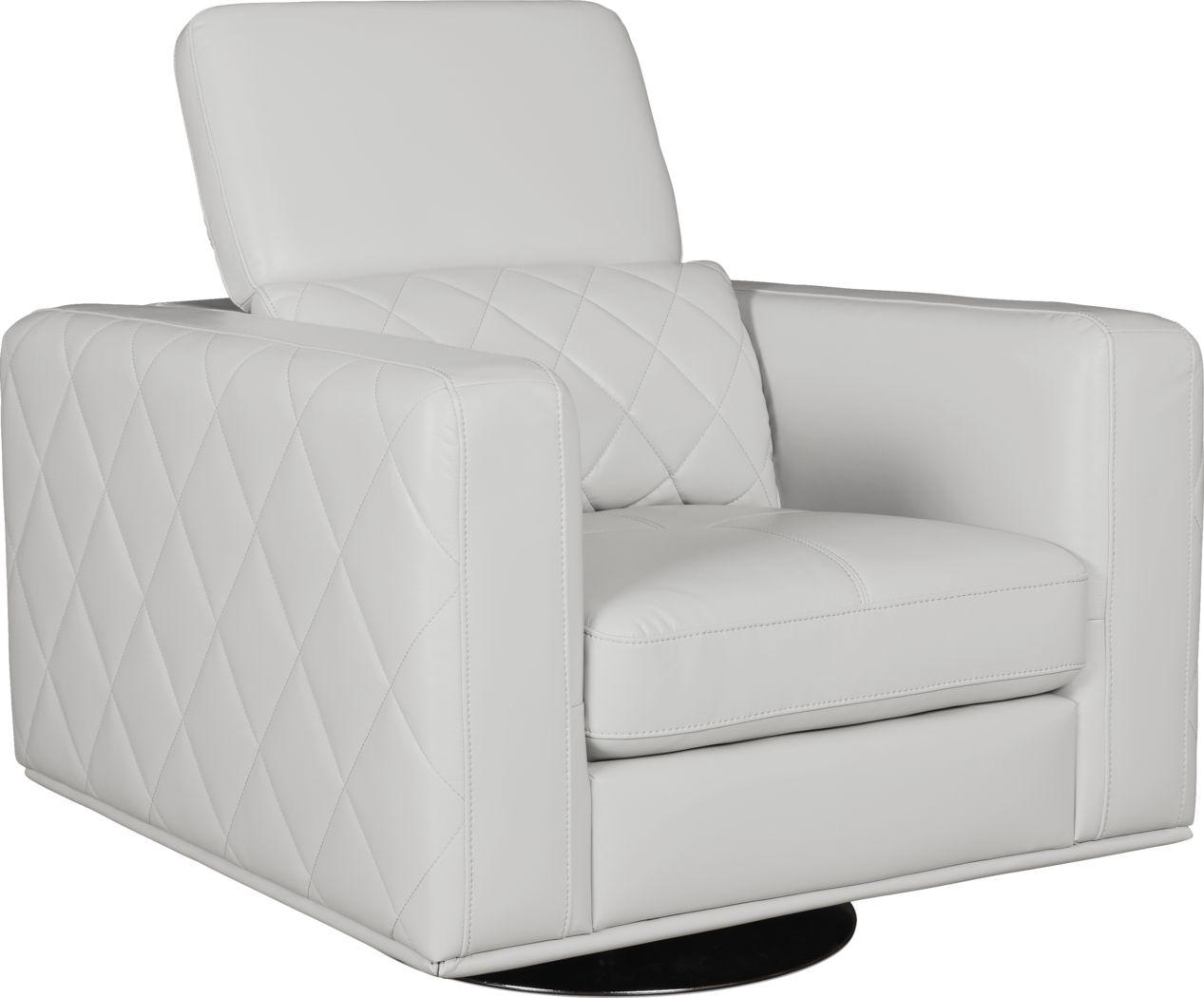 Sofia Vergara Via Sorrento White Swivel Chair