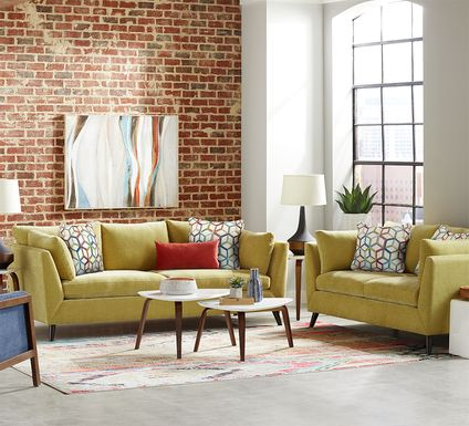 Sofia Vergara West Loft Citron 6 Pc Living Room