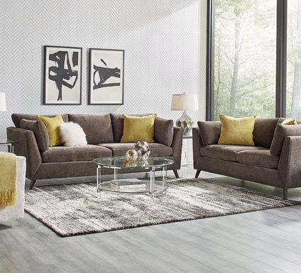 Sofia Vergara West Loft Slate 6 Pc Living Room