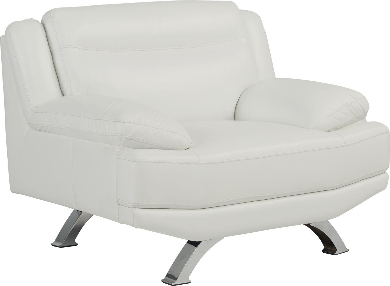 Sofia Vergara Zamora White Leather Chair