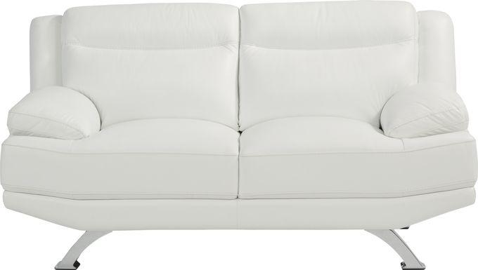 Sofia Vergara Zamora White Leather Loveseat