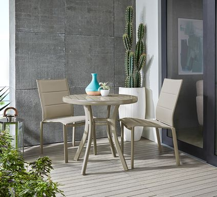 Solana Taupe 3 Pc Dining Set