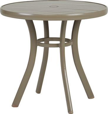 Solana Taupe 32 in. Round Outdoor Dining Table